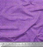 Soimoi Lila schwere Leinwand Stoff Netz geometrisch