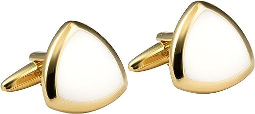 Knighthood Golden Executive Shield Cufflinks For Men