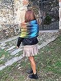 Sciarpèlla décoration « Vibrance Multi»: Trois accessoires en un! Écharpe capuche imperméable convertible et couvrir les épaules
