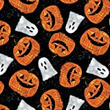 Halloween Stoff - Pumpkins & Ghosts