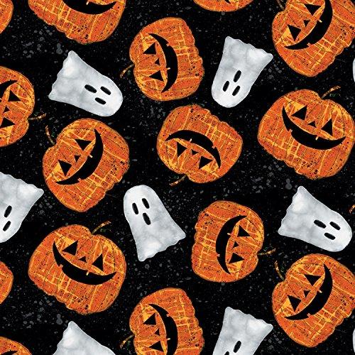 Halloween Stoff-Pumpkins & Ghosts Halloween-wil24-von wilington-100% Baumwolle -