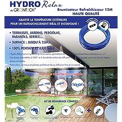Brumisateur de terrasse 12 mètres - 9 buses - filtre anticalcaire HYDRO Relax