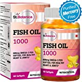 St.Botanica Fish Oil 1000 mg (Double Strength) with 600 mg Omega 3 (330mg EPA, 220mg DHA) - 60 Softgels