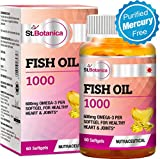 #7: St.Botanica Fish Oil 1000 mg (Double Strength) with 600 mg Omega 3 (330mg EPA, 220mg DHA) - 60 Softgels