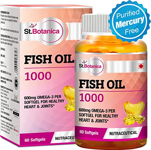 St.Botanica Fish Oil 1000 mg (Double Strength) with 600 mg...