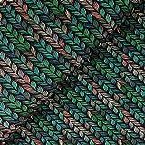Glünz - Stoff - Softshell Zopfstrick grün - Meterware - 1