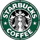 Starbucks Kaffee Wanduhr 25,4cm Nice Geschenk und Raum Wand Decor A474