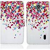 Huawei Y635 Funda, FoneExpert® Wallet Flip Billetera Carcasa Caso Cover Case Funda de Cuero Para Huawei Y635 (Pattern 1)
