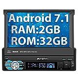 PUMPKIN Android 7.1 32GB + 2GB Autoradio Moniceiver 1 DIN mit Bildschirm und Navi Unterstützt Bluetooth DAB+ WLAN Subwoofer USB MicroSD Rückfahrkamera OBD2 7 Zoll Universal (Android 7.1 32GB + 2GB Autoradio)