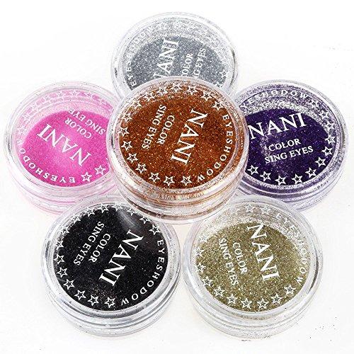 Neverland Professional 6 Mischfarben Glitter Mineral Lidschatten Augen Make-up Lidschatten Pigmente Powder