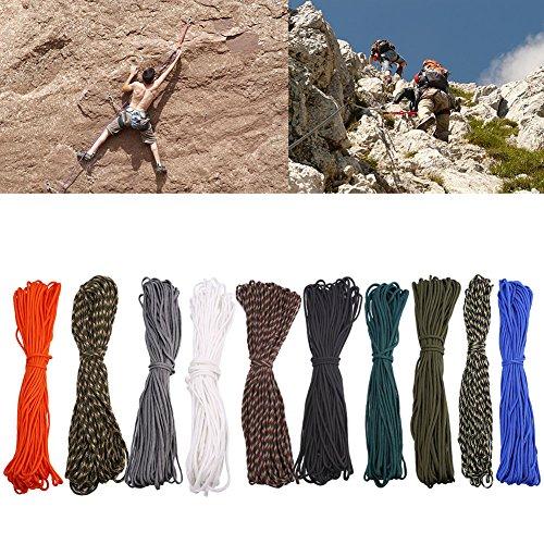 Beautyrain 1 pc 100ft Corde d'alpinisme Longe Paracord Mil Spec Type Strand Core