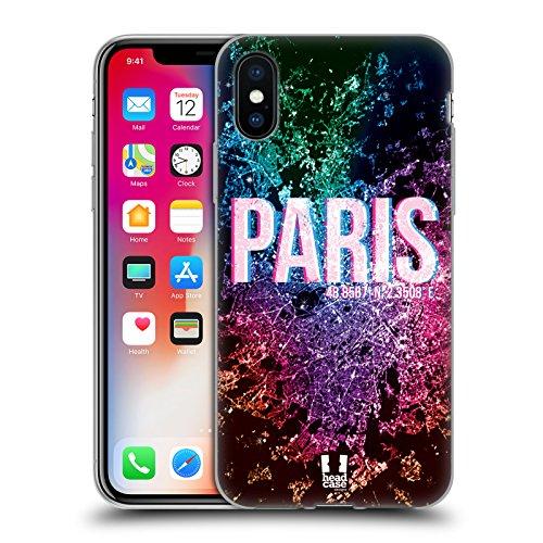Head Case Designs Istanbul Lumières De La Ville Étui Coque en Gel molle pour Apple iPhone 5 / 5s / SE Paris