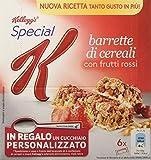 Kellogg's - Barrette di cereali, con Frutti Rossi - 6 pacchetti