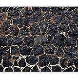 murando - Fototapete 350x256 cm - Vlies Tapete - Moderne Wanddeko - Design Tapete - Wandtapete - Wand Dekoration - Steine Steinoptik schwarz f-A-0526-a-b