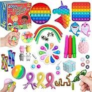 TimiCare Fidget Toys Set, Pop it set , Stress Relief Toys for Focus & Calm , Toy Box & Party Favor Fid