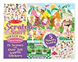 #6: Melissa & Doug Scratch and Sniff Sticker Pad - Floral Fairies, Multi Color