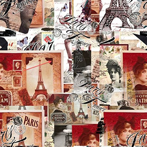 Venilia Film adhésif à motifs, PVC, vintage, 45 x 200 cm