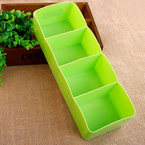 Kunststoff Organizer Krawatte BH Socken Schublade Kosmetische Behälter Trennwand Aufbewahrungsbox, grün