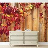 Tapeto Fototapete - Holz Zaun Blumen - Vlies 368 x 254 cm (Breite x Höhe) - Wandbild Wand