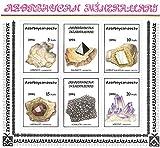 Francobolli da collezione - Belle cristalli e minerali MNH Foglio in miniatura / po?tu / 1994