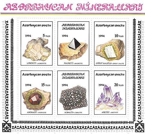 Sellos de colección - Cristales hermosas y Minerales MNH Hoja Bloque / Poctu / 1994