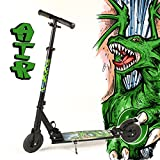 Hepros XXL Air Fully Scooter Black - 150mm Lufträder 6.9 bar - Dragon grün
