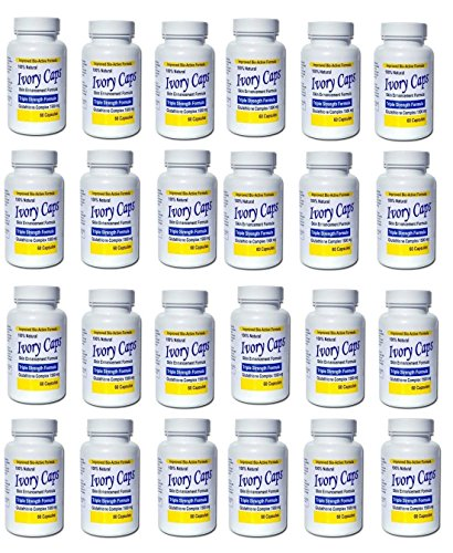 (Pack de 24)Ivoire Caps éclaircissement de la peau Pill Blanchiment Ivorycaps Pills glutathion 1500mg