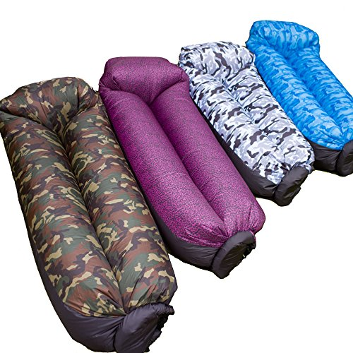 Inflatable Lounger by GLP Creations is the Comfortable Inflatable Air Sofa that's Fully Waterproof. High end Nylon Sofa with Integrated Pillow that's Perfect for Camping, Backyard, Beach & Pool