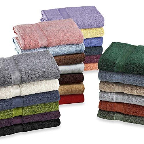 4 toallas de baño de lujo 70X140 cm a 80x150 cm, 600 a 850 g/m2, disponible en varios colores, 100% de algodón peinado egipcio de cero torsión, ultrasuave