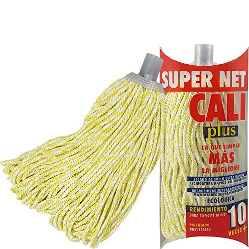 Super Net Cali Fregona de Microfibras Bicolor (Amarilla, 1)