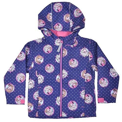 Disney Frozen Girls Blue Hooded Winter Jacket Fleece Lining Adjust Cuffs Age 8-9