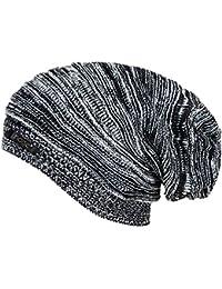 Noise Men's Acrylic Beanie Cap - NOICAP-WNTR004_Black and White_Free Size
