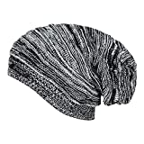 #6: Noise Men's Acrylic Beanie Cap - NOICAP-WNTR004_Black and White_Free Size