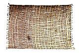 Ciffre Sarong Pareo Wickelrock Strandtuch Tuch Schal Wickelkleid Strandkleid Blickdicht Los Angeles - Braun Beige Bunt Streifen