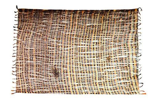 Sarong Pareo Wickelrock Strandtuch Tuch Schal Wickelkleid Strandkleid Blickdicht Los Angeles - Braun Beige Bunt Streifen