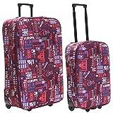 Slimbridge Algarve set di 2 valigie leggeri, Rosa Multi