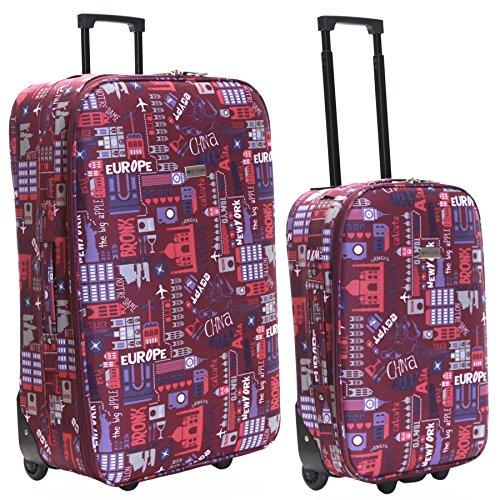 Slimbridge Algarve juego de 2 maletas ligeras, Rosado Multi