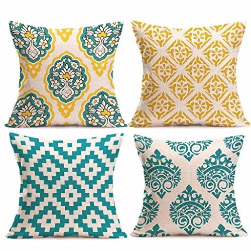 Ningsun_casa ningsun 4pc custodie per cuscini cuscino per divano home decor di cotone lino piazza federe,divano decorazione casa camera da letto per divani sedie cuscino set di 4 letti (c, 45cm*45cm)