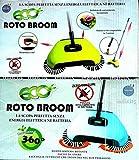 Eco Roto Broom Scopa Rotante 360° zero consumi senza corrente disponibile a scelta BLU o VERDE serbatoio incorporato immagine