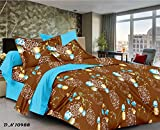 MeePra Floral Double Bedsheet With 2 Pil...