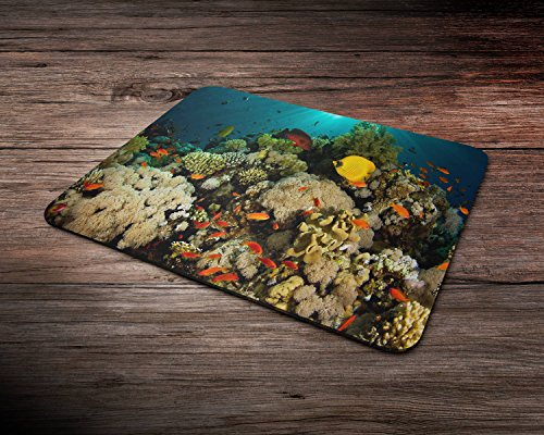 Coral Reef Deep Water Ocean Rubber Mouse Mat PC Mouse Pad (Reef Deep)