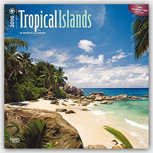 Tropical Islands 2016 Square 12x12 por Browntrout Publishers