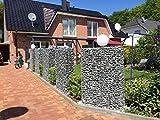Gabionen Würzburg, Gabionen, 3 Stück, B 60-100cm, H 160-200cm, T 20-50cm, Garten (200x90x10)