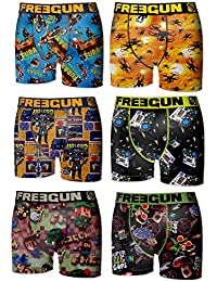 6 Boxers Freegun Homme - Lot de 6 -