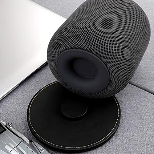 Price comparison product image Ocamo Natural Leather Anti-slip Protective Pad Holder Mount for Apple HOMEPOD Intelligent Speaker