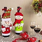 Art Beauty Natale Ornamenti Tappo di bottiglia di vino Borse Babbo Natale Decorazioni da tavola Centrotavola Champagne