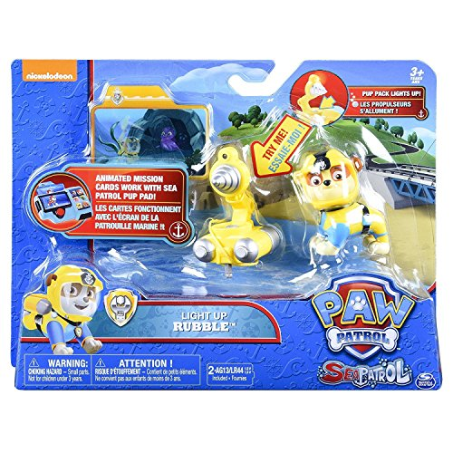 Paw Patrol 6040268 Paw Patrol-6040268-Sea Patrol Deluxe Figure Rubble, Multicolour