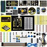 KEYESTUDIO Eléctrica Starter Kit con Guías Tutorial y Conjunto de UNO R3 con LCD Servo Motor de Joystick Receptor de Infrarrojos Ultrasónico, Modulo de Fuente de Alimentación para Arduino UNO Kit