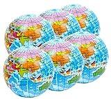 Stressball 6 x Atlas, Globus Klien, Weltkarte Smiley Stress Ball, Kleiner Globus – Grosse Stresserleichterung, Autismussserleichterung
