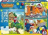 Schmidt Spiele 56207 - Puzzle Benjamin Blümchen in Aktion, 3 x 24 Pezzi